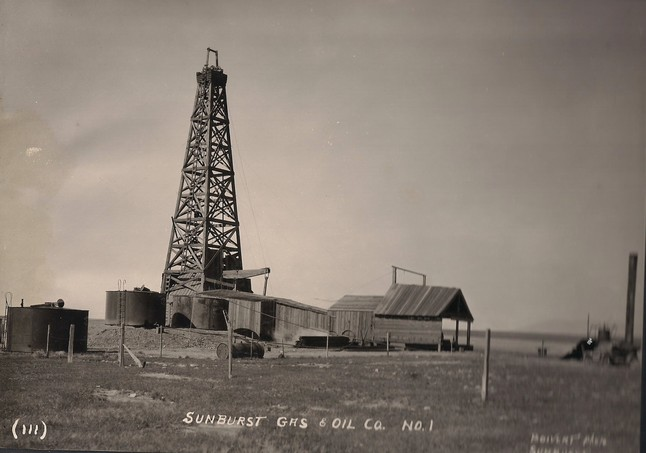 Sunburst's First Oil Well